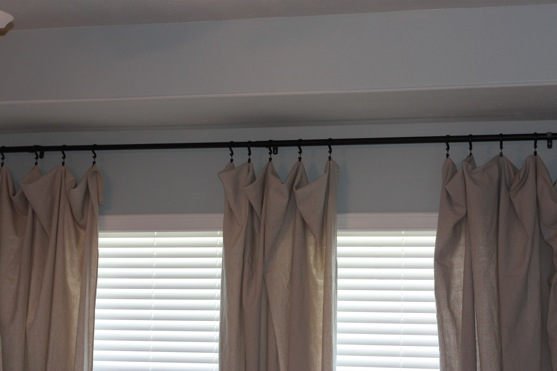 drop cloth curtains and paintings the