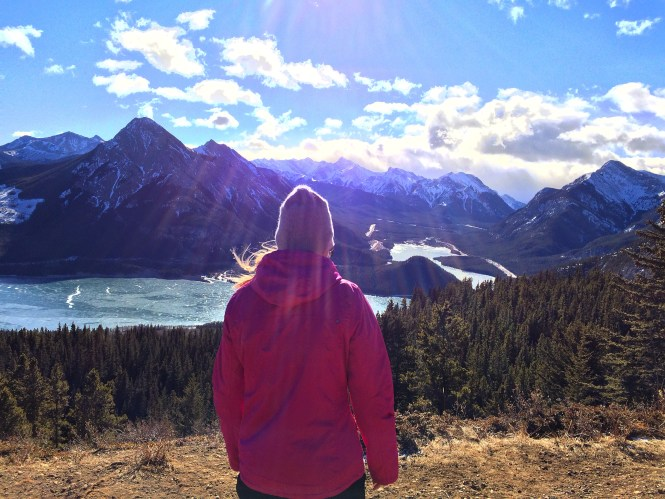 hiking in kananaskis alberta - the pink backpack travel and adventure blog