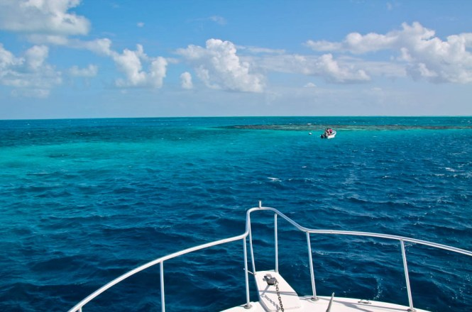 Scuba diving in the Blue hole, belize