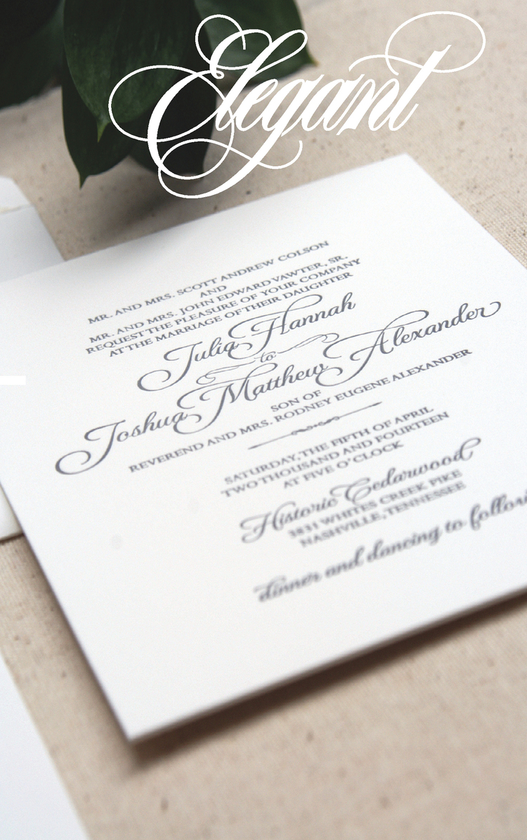 Elegant Wedding Invitations By Nashville Stationery Design Studio Designs In Paper The Pink Bride