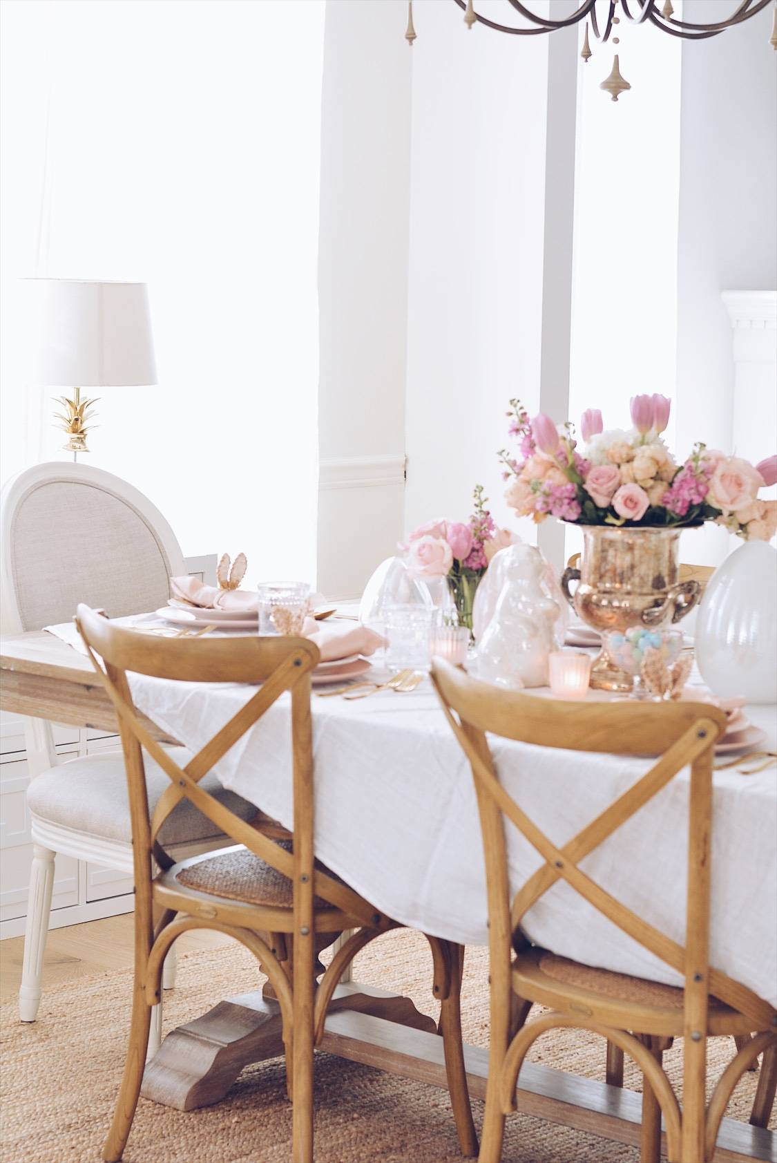 Beautiful Easter Tablescape Ideas Easter Table Decor The Pink Dream