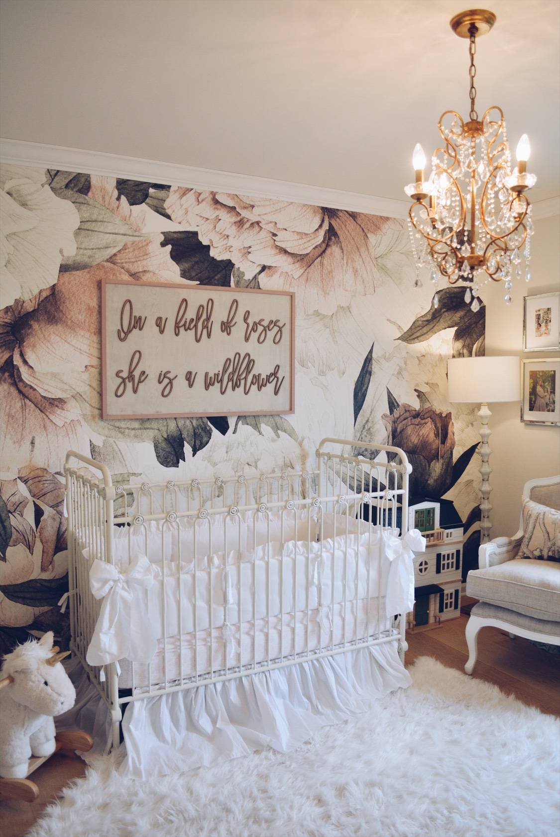 Floral Wallpaper Nursery A Vintage Inspired Nursery The Pink Dream