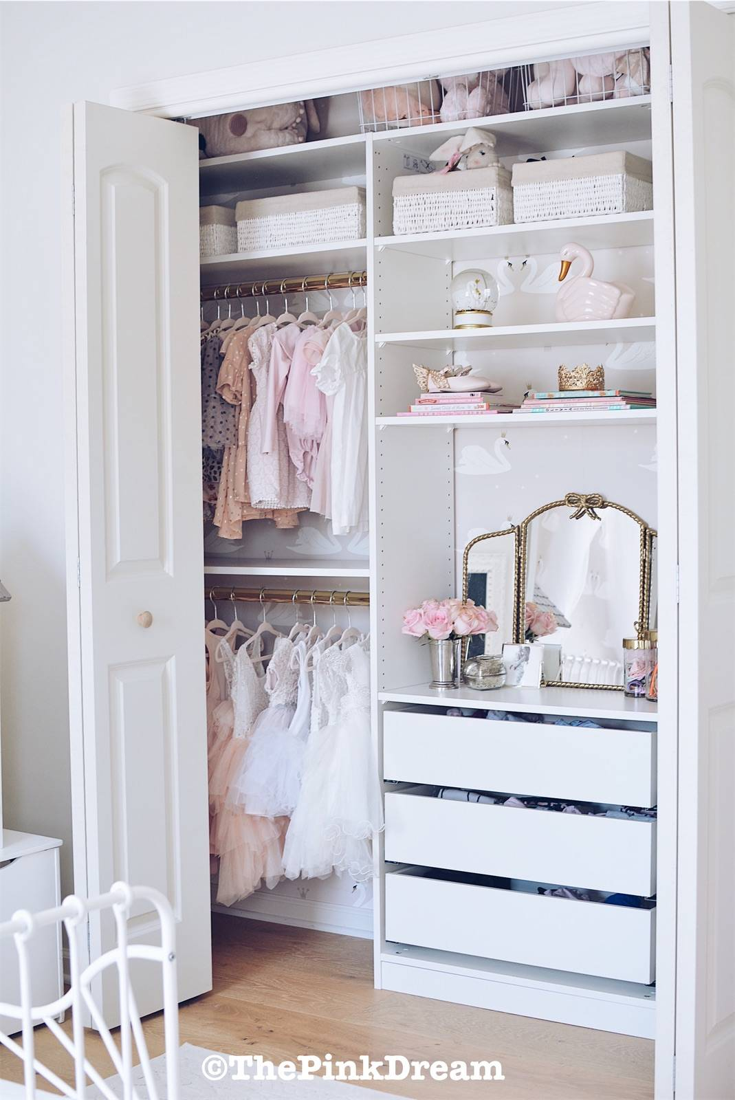 Ikea Pax Hack How To Customize A Small Closet With The System Pink Dream
