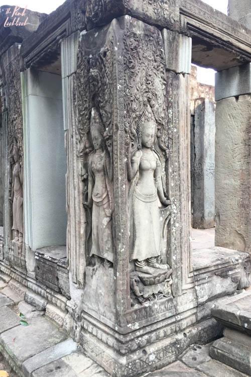 Angkor Wat Bayon Goddess Carving