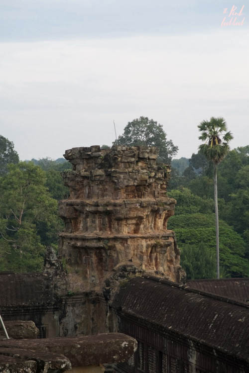 Angkor Wat Broken Tower View