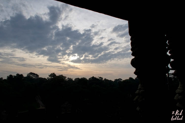 Angkor Wat Window Sunrise View