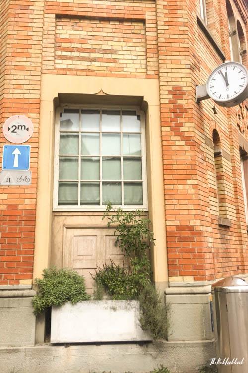 Winterthur Switzerland Day Trip from Zurich Brick House Door