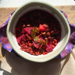 Lentil Beet and Carrot soup is colorful and loaded with nourishment.