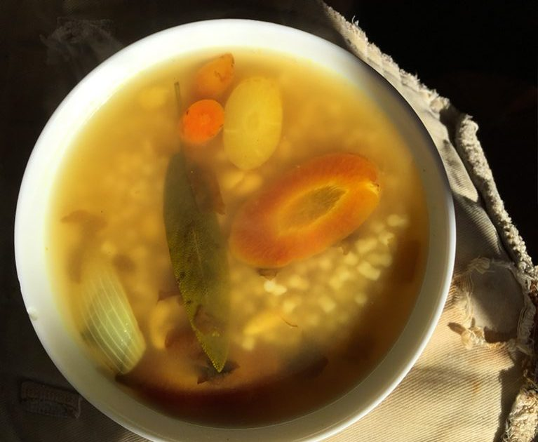 Healing soup for immune support.