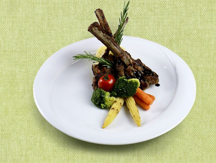 Lamb Chops from Senses Restaurant. Photo from the IG of Luthan Hotel and Spa.