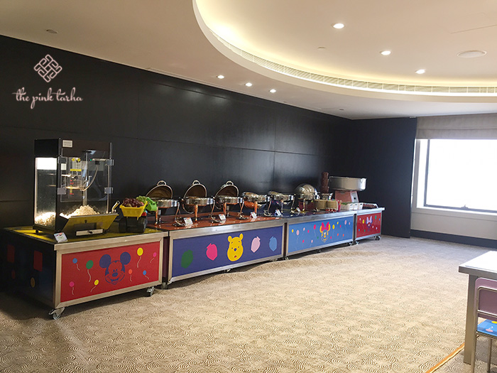 Buffet area for the kiddos.