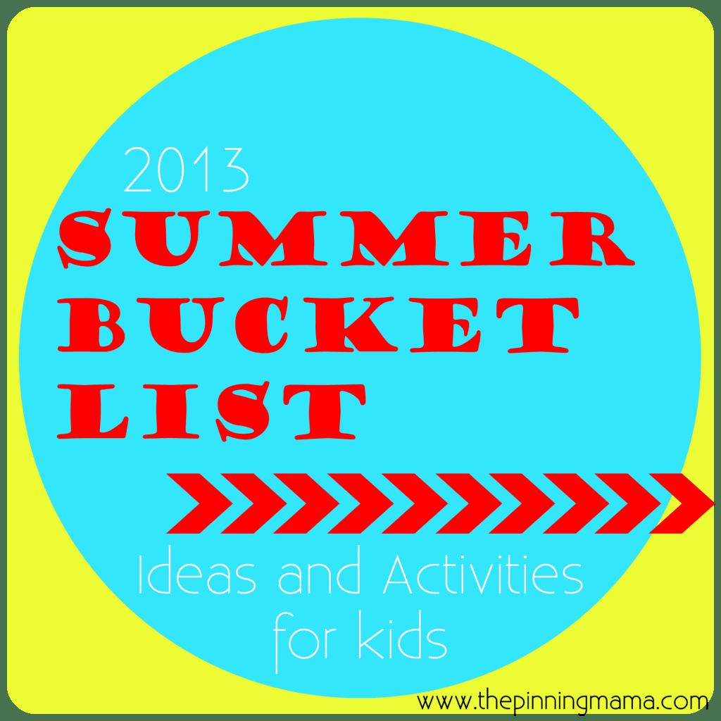 Summer Bucket List- Summer Ideas And Summer Activities For