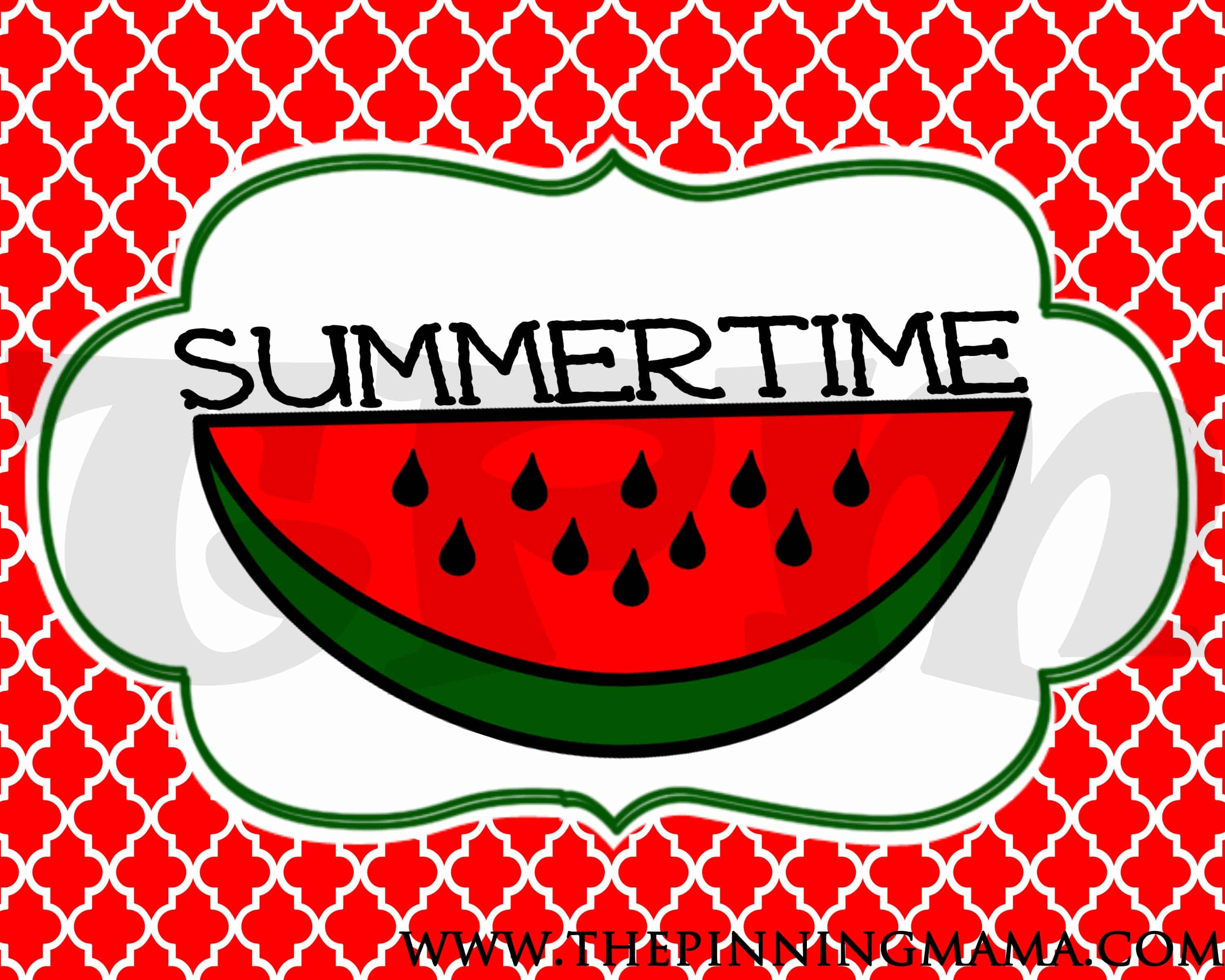 Free Summer Printable - Summertime by www.thepinningmama.com