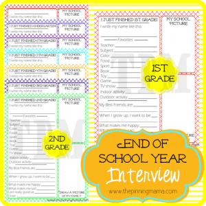 Kids End Of School Year Interview by www.thepinningmama.com