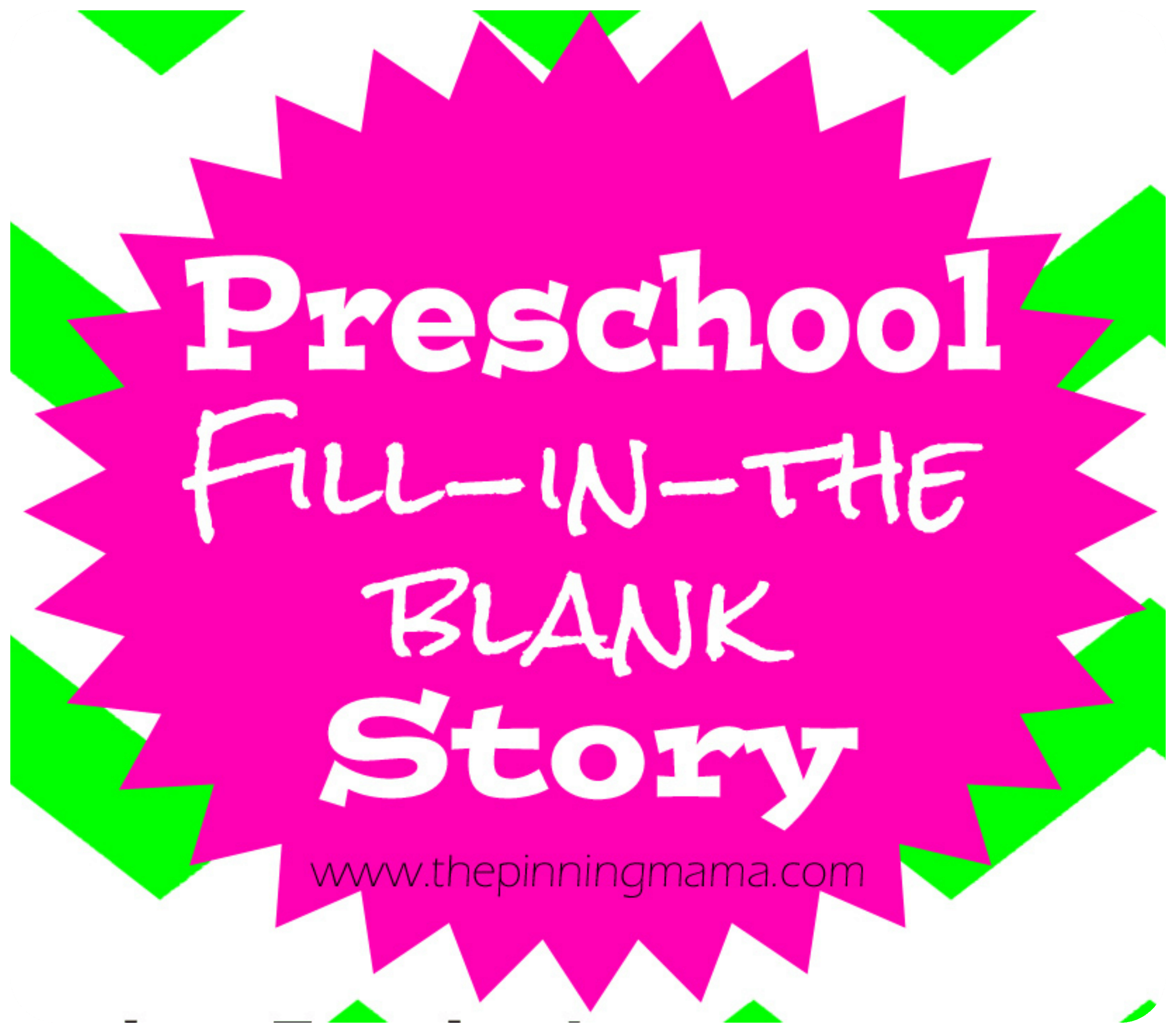 Fun Activities For Preschoolers Mad Libs Style Story For