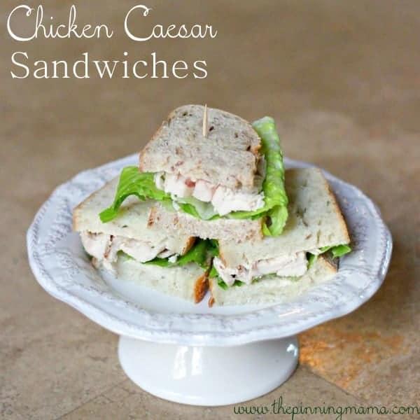 Chicken Caesar Sandwich by www.thepinningmama.com