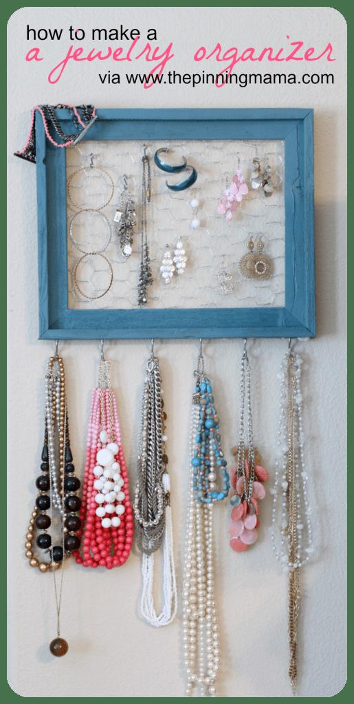 how to make a jewelry organizer www.thepinningmama.com