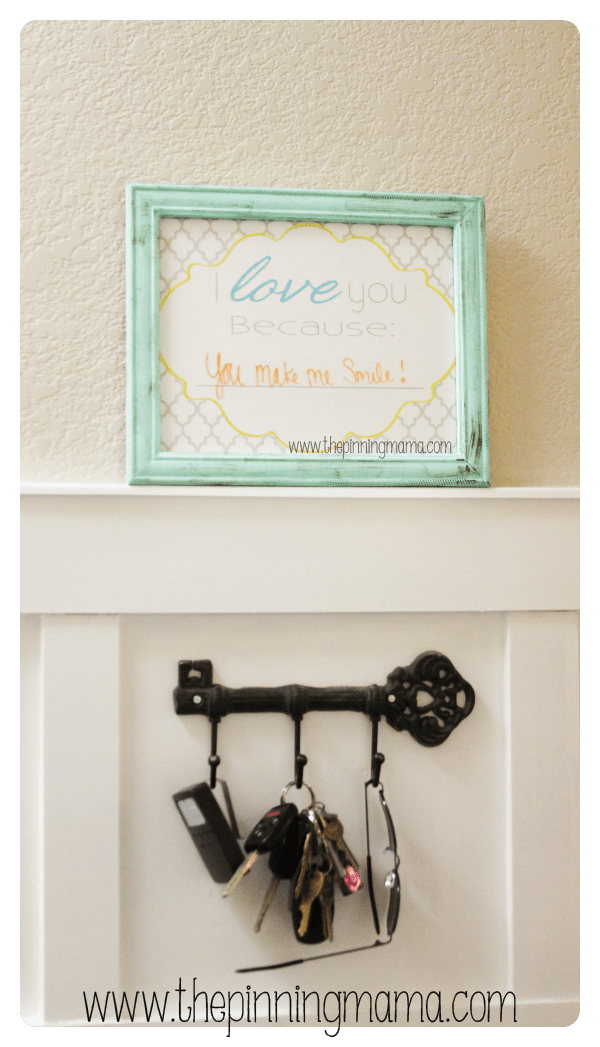 I Love You Because Dry Erase Frame by www.thepinningmama.com