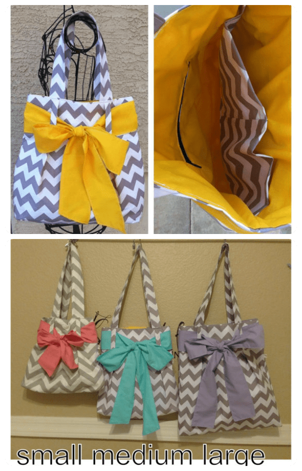 Chevron Bag with Bow from Babybug Creations