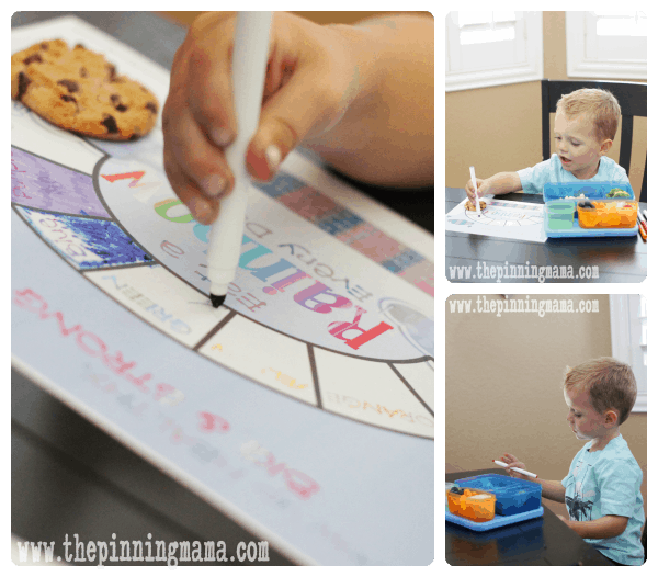 Eat a Rainbow meal time game by www.thepinningmama.com