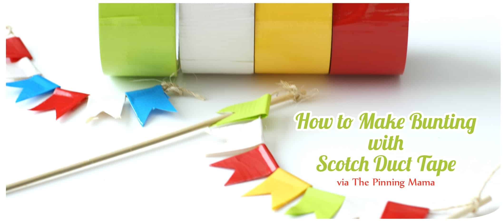 scotch tape diy bunting www.thepinningmama.com