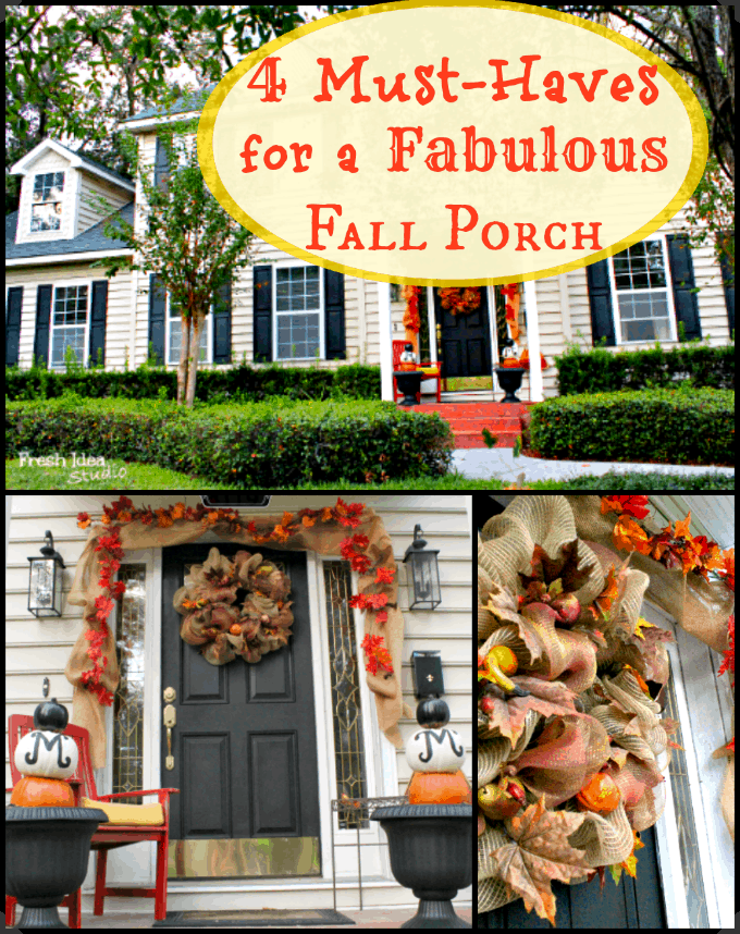 4 must haves for a fall porch collage