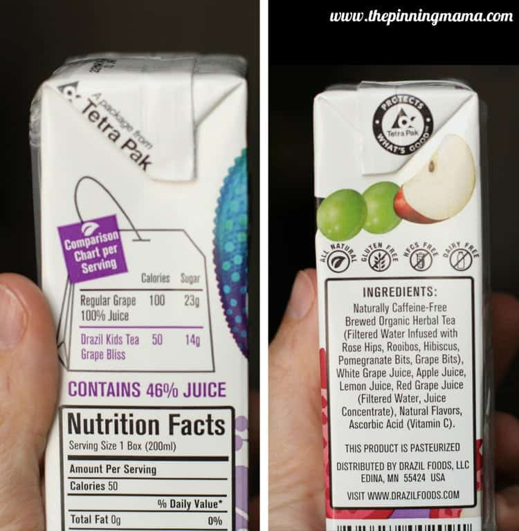 drazil nutrition facts via The Pinning Mama