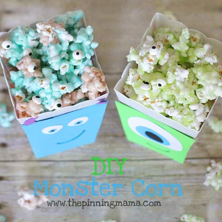 Monsters University Candied Monster Popcorn www.thepinningmama.com #shop #ScareEdu #cbias