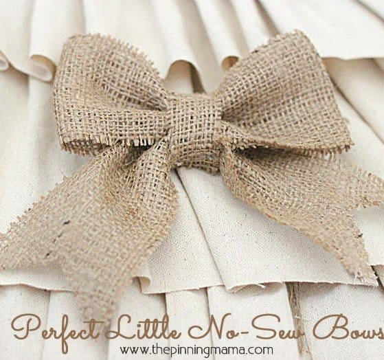 How to Make No Sew Burlap Bows
