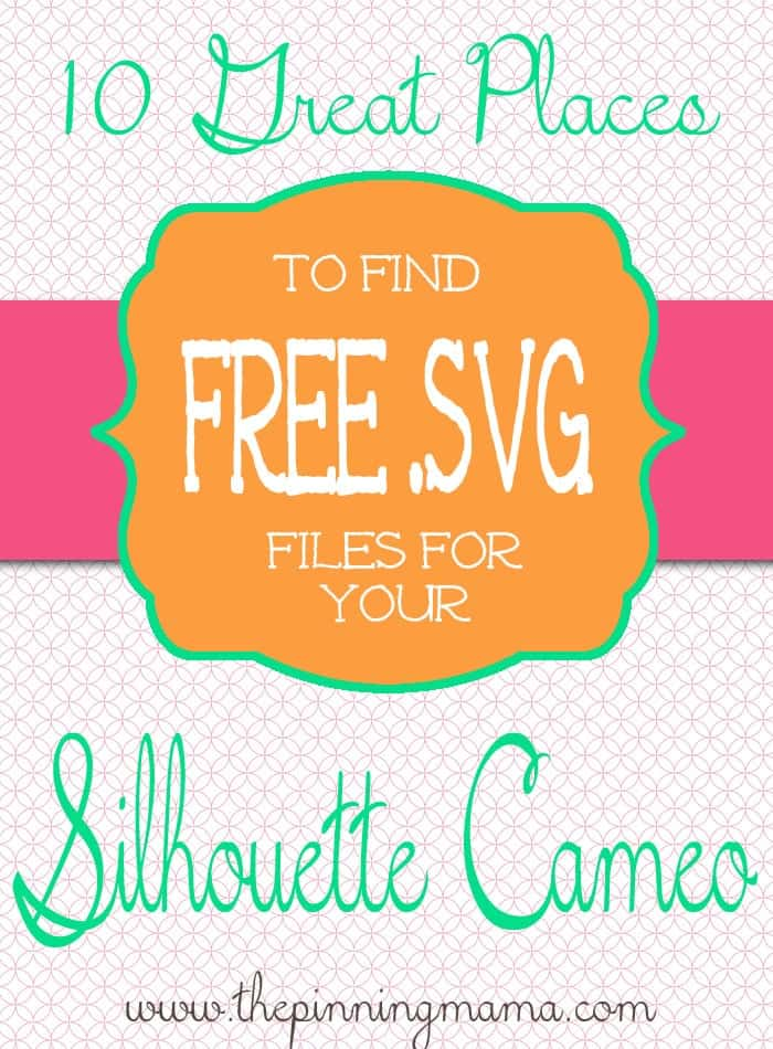 Download Free svg files for silhouette cameo