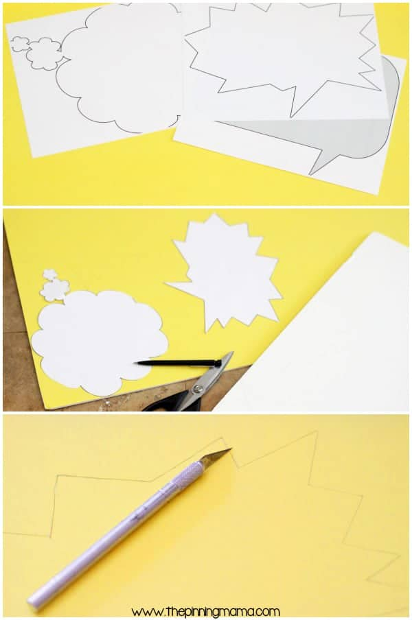 Cutting designs for your DIY photo booth is easy! See full tutorial here.