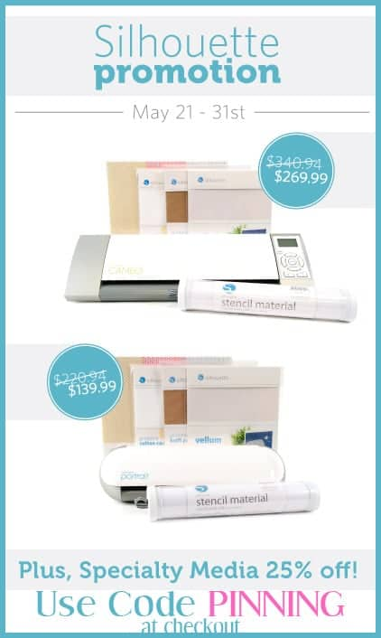 Silhouette Cameo Sale - Use promo code PINNING at checkout.