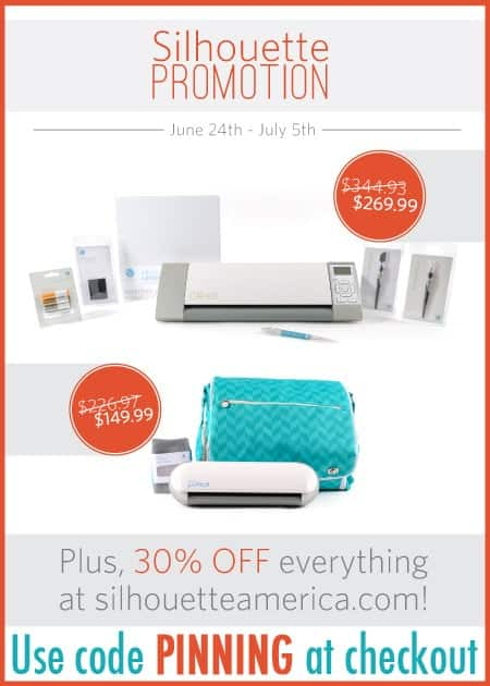 Silhouette Cameo Portrait Discount Coupon and Promo Code- Use Code PINNING at Check Out!