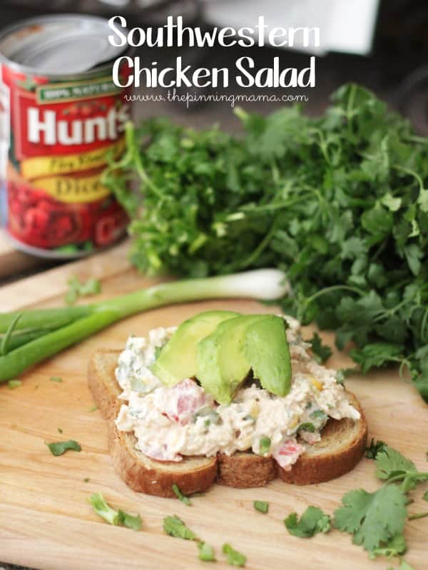 Southwestern Chicken Salad is a delicious twist on classic chicken salad!