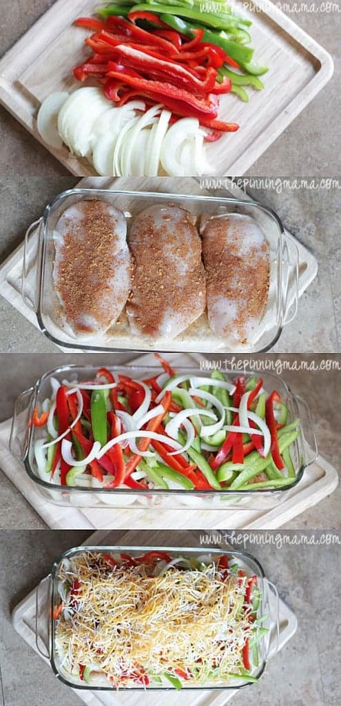 Easy Fajita Chicken Bake Recipe - Only 6 ingredients! Couldn't be easier!