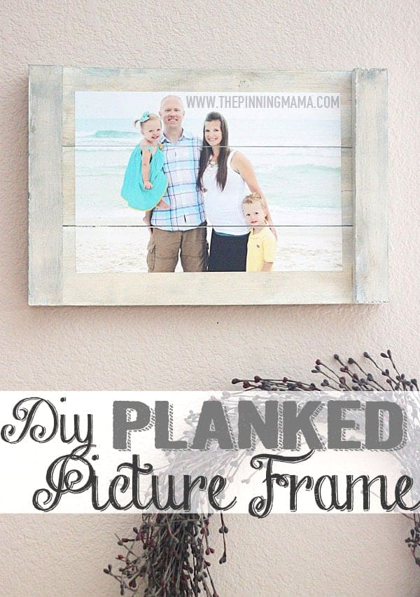 Quick & Easy DIY Planked Picture Frame