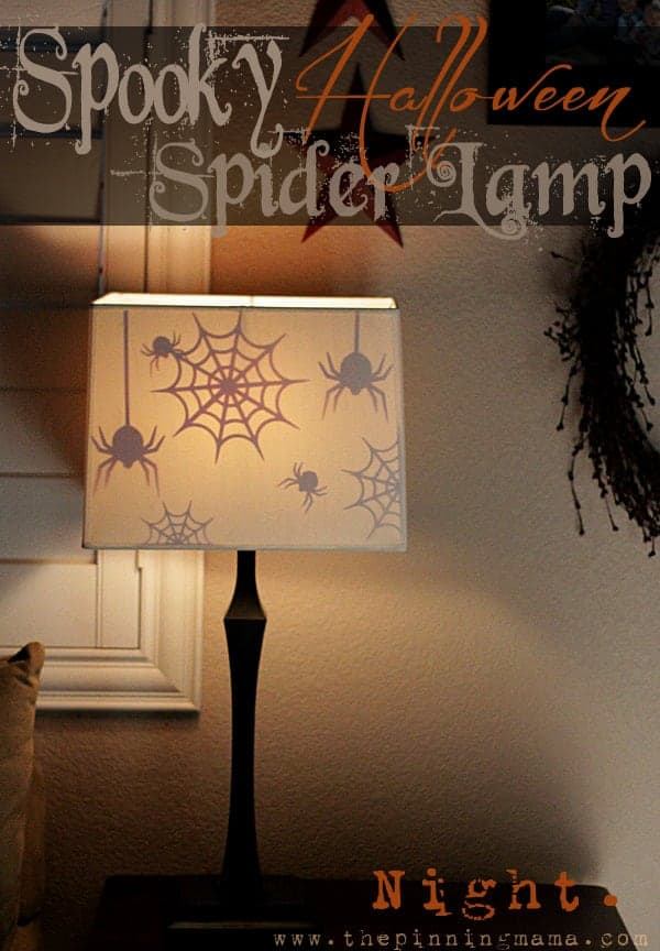 This is the coolest Halloween decoration I have seen ! Spiders appear when the lamps come on!