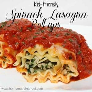 Kid friendly Spinach Pasta