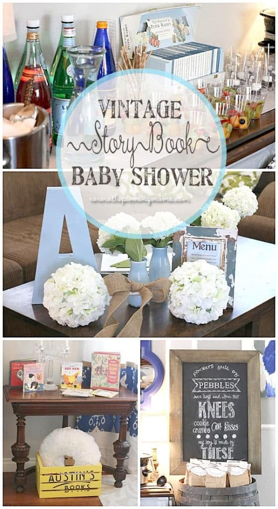 Vintage Story Book Sip n See for baby boy! This is adorable!