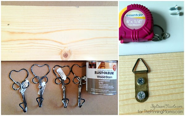 You only need a few materials for this 20 minute DIY rustic hook!