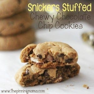 https://www.thepinningmama.com/snickers-stuffed-chewy-chocolate-chip-cookies-the-ultimate-game-day-dessert/