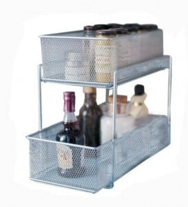 Great way to organize cabinet space in the bathroom!  Lots of bathroom organization ideas on thepinningmama.com