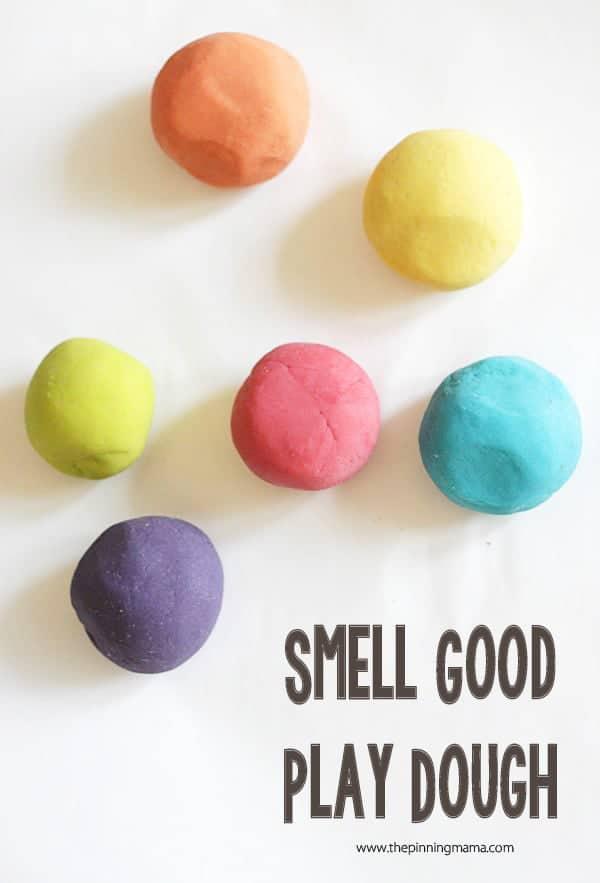 Finally a recipe to make smell good play dough!