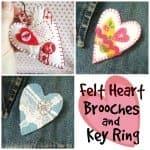 Felt heart collage