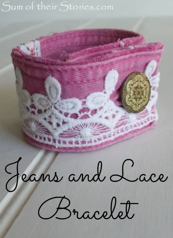 Jeans and Lace bracelet 3