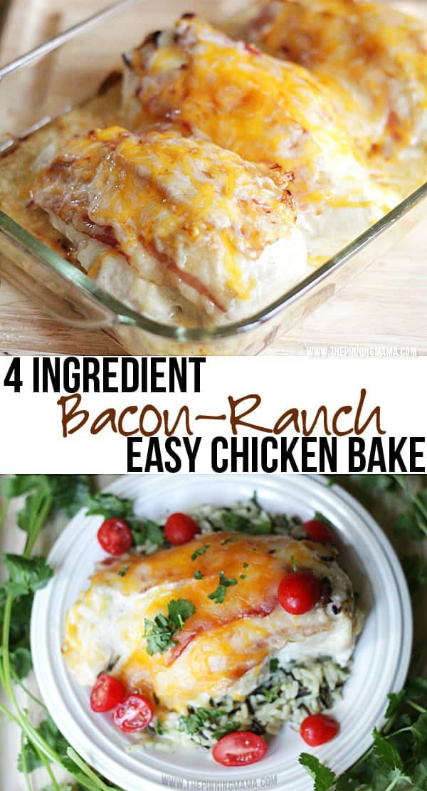 4 INGREDIENT BACON RANCH CHICKEN BAKE