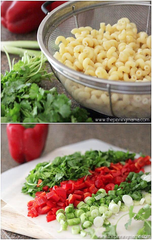 One of my favorite easy pasta salads! So yummy and healthy. Recipe via thepinningmama.com