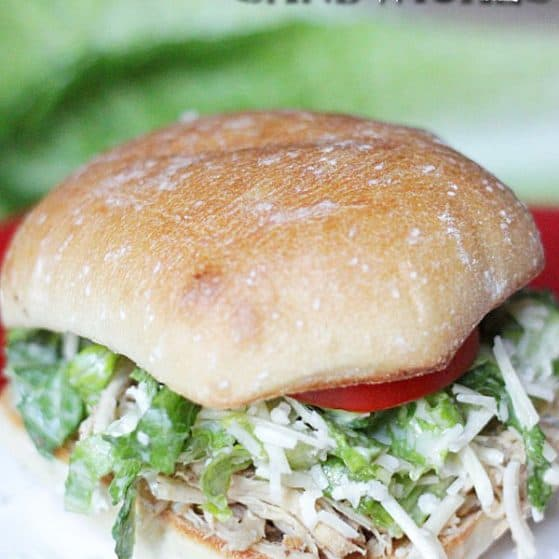 Chicken Caesar Sandwiches - Love this healthy dinner idea! Recipe via thepinningmama.com