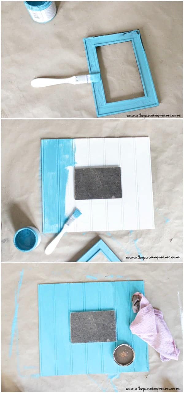 Quick and easy way to make a large picture frame out of an old small one!
