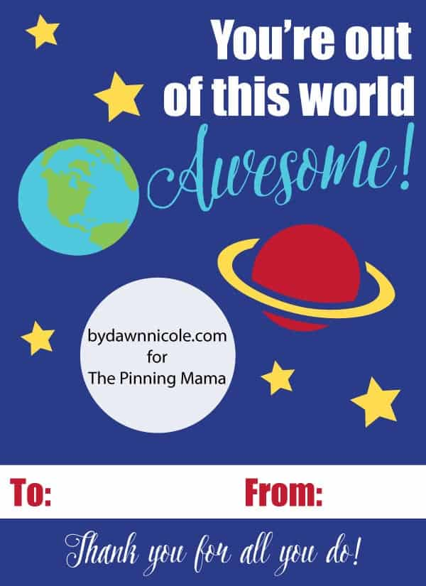 You're Out of this World EOS Lip Balm Card Free Printable + Silhouette Cut File | thepinningmama.com